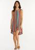 Plus Size Multi Stripe Ribbed Dress alt view