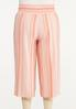Plus Size Cropped Striped Linen Pants alternate view