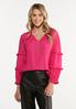 Solid Ruffled Top alt view