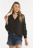 Plus Size Solid Ruffled Top alt view