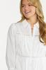Plus Size Embroidered Trim Button Tunic alt view