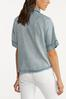 Plus Size Chambray Button Front Shirt alternate view
