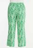 Plus Size Palm Leaf Linen Pants alternate view