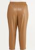 Plus Size Faux Leather Pants alternate view