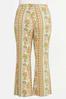 Plus Size Retro Floral Flare Pants alternate view