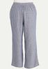 Plus Size Sailor Stripe Linen Pants alternate view