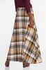 Plus Size Rustic Plaid Maxi Skirt alternate view
