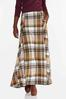 Plus Size Rustic Plaid Maxi Skirt alt view