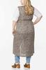 Plus Size Allover Print Belted Vest alternate view