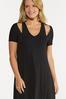 Plus Size Solid Cutout Shoulder Dress alt view