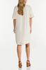 Plus Size Ruffled Sleeve Linen Dress alternate view