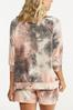 Plus Size Relaxed Tie Dye Top alternate view