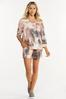 Plus Size Relaxed Tie Dye Top alt view