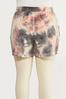 Plus Size Tie Dye Lounge Shorts alternate view