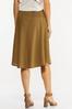 Plus Size Smocked Waist Olive Midi Skirt alternate view