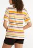 Plus Size Paisley Stripe Cutout Tee alternate view