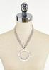 Hammered Ring Pendant Necklace alternate view