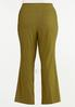 Plus Size Solid Bengaline Flare Pants alternate view