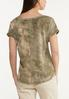 Bleached Olive Green Top alternate view