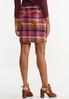 Plaid Bengaline Mini Skirt alternate view