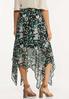 Textured Floral Hanky Hem Skirt alternate view