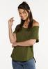 Plus Size Slouch Waffle Top alt view