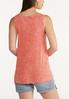 Plus Size Faded Tie Front Tank alternate view