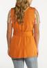 Plus Size Orange Belted Vest alternate view