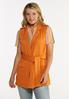 Plus Size Orange Belted Vest alt view