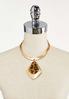 Gold Leopard Pendant Necklace alternate view