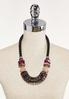 Mixed Lucite Statement Necklace alternate view
