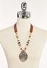 Tribal Pendant Cord Necklace alternate view