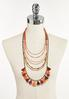 Mixed Layered Tassel Necklace alternate view