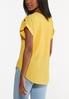 Plus Size Crepe Button Sleeve Top alternate view