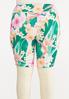 Plus Size Tropical Biker Shorts alternate view