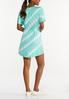 Plus Size Tie Dye Drawstring Dress alternate view