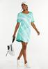 Plus Size Tie Dye Drawstring Dress alt view