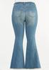 Plus Size Distressed Flare Jeans alternate view