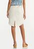 Plus Size Curved Frayed Denim Skirt alternate view