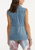 Plus Size Denim Cinch Waist Vest alternate view
