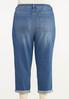 Plus Size Cropped Distressed Boyfriend Jeans alternate view