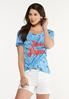Plus Size Stars And Stripes Tee alt view