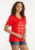Plus Size Foiled Freedom Fireworks Tee alt view
