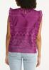 Ruffled Mesh Embroidered Top alternate view
