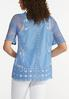 Plus Size Embroidered Mesh Pullover Top alternate view