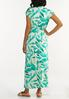 Plus Size Tasseled Leaf Maxi Dress alternate view