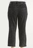 Plus Size Distressed Black Acid Wash Jeans alternate view