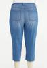 Plus Size Cropped Patchwork Jeans alternate view