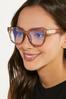 Lucite Tan Blue Light Glasses alternate view