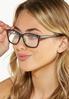 Classic Black Reader Glasses alt view
